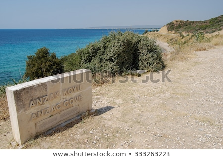 Old concrete bunker at Anzac cove Stock photo © backyardproductions