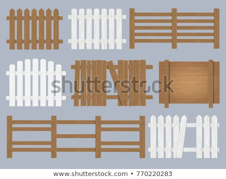 old country village fence Stock photo © alex_grichenko