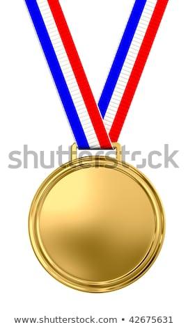 medaglia · d'oro · vettore · luogo · badge - foto d'archivio © liliwhite