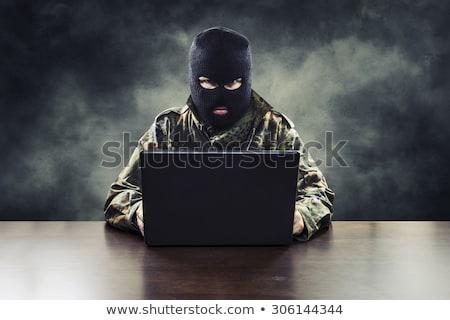 Bedrog verborgen computer code Rood internet Stockfoto © 3mc