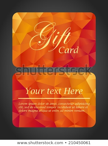 Luxury gift card - top and bottom side Stock photo © liliwhite