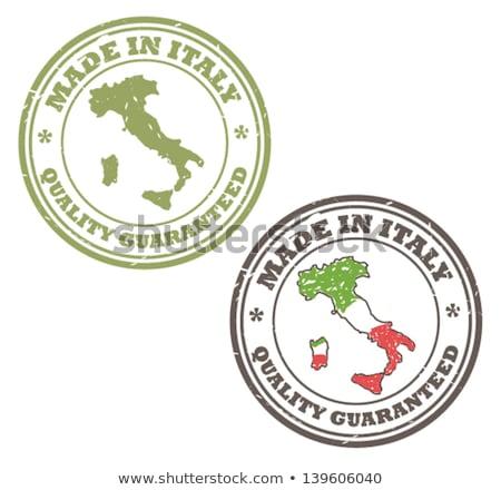 Olaszország · zászló · öreg · izolált · fehér · papír - stock fotó © claudiodivizia