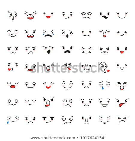Doodle Facial Expressions Set For Humor Design Stock photo © Voysla