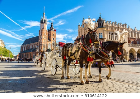 Krakow old town main market square Stock photo © 5xinc