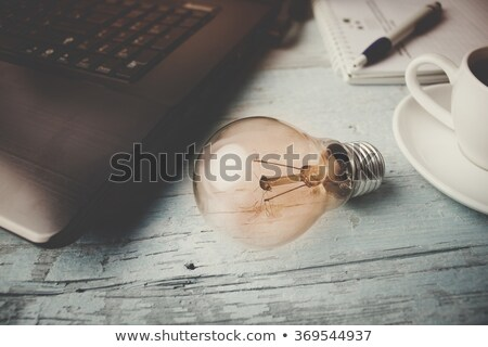 Ampul bilgisayar klavye atış Stok fotoğraf © devon