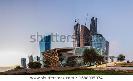 financial · district · finansal · Bina · mavi · gökyüzü · iş · şehir - stok fotoğraf © gemenacom