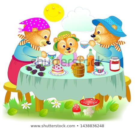 Trei ursii grădină zoologică Imagine de stoc © gemenacom