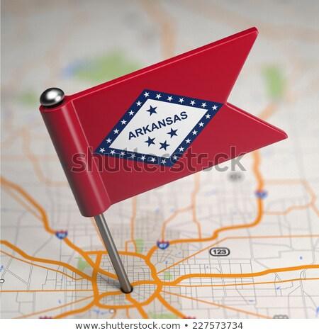 Arkansas kicsi zászló térkép szelektív fókusz háttér Stock fotó © tashatuvango