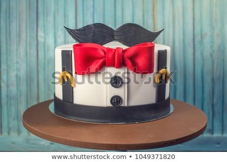 Snorren cake twee verschillend stuk Stockfoto © nito