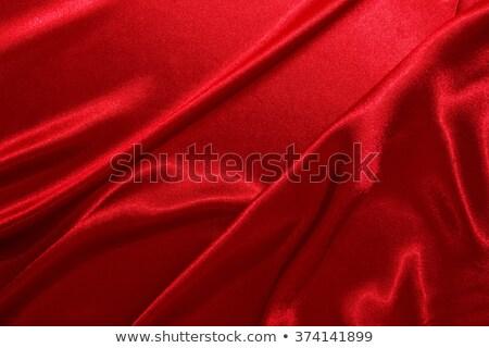 Stock photo: red shiny curtain