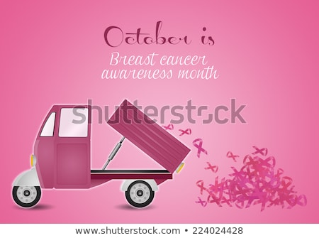 Pink van for breast cancer prevention Stock photo © sognolucido