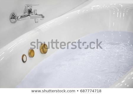 jacuzzi · bano · agua · velas · plantas · salud - foto stock © smuki