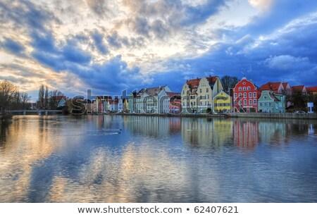 Cielo azul nubes Munich Alemania cielo luz Foto stock © meinzahn