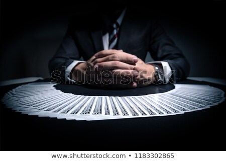 holdem dealer with playing cards Stock photo © dolgachov