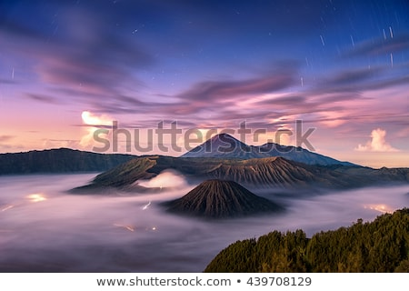 Sunrise over Bromo mountain, Java, Indonesia Stock photo © dinozzaver