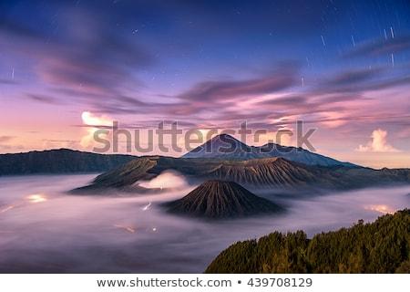 Восход горные Ява Индонезия красочный вулкан Сток-фото © dinozzaver