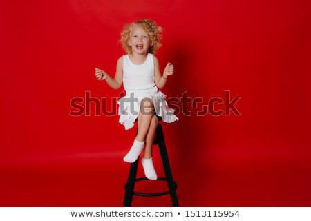 студию портрет Cute девушки сидят Сток-фото © jeancliclac