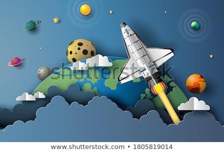 űr absztrakt földgömb terv illusztráció égbolt Stock fotó © eltoro69
