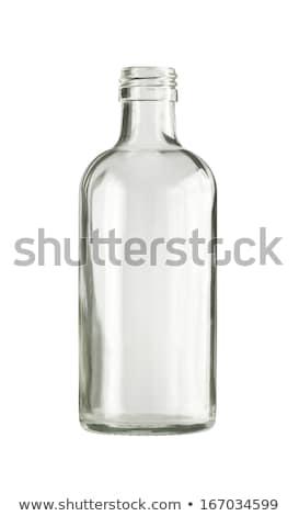 пусто бесцветный стекла бутылку изолированный белый Сток-фото © ozaiachin