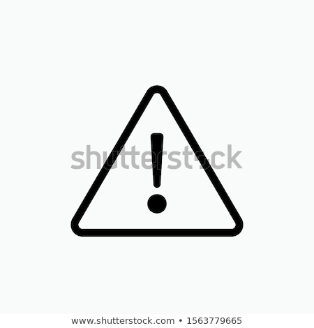 Stock photo: Security warning icon on white background.