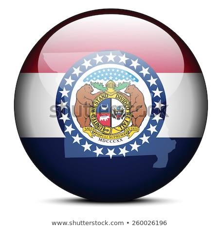 Map on flag button of USA Missouri State Stock photo © Istanbul2009
