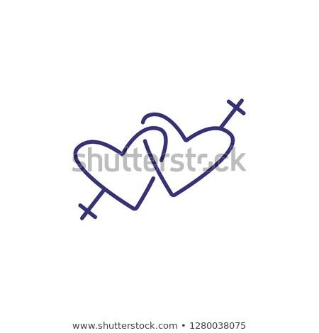 レズビアン · アイコン · 女性 · 紙 · 少女 · 愛 - ストックフォト © tkacchuk