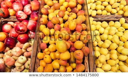 detail of a crate of peaches stock photo © pedromonteiro