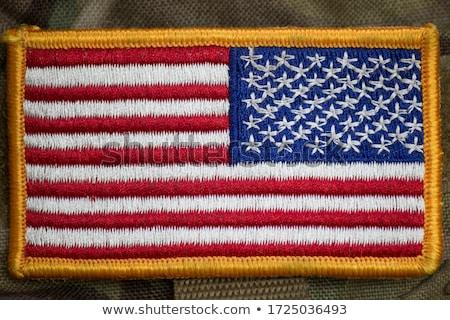 американский · флаг · солдаты · морской · войны - Сток-фото © rmbarricarte