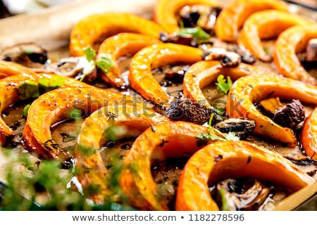 Sweet Baked Pumpkin Pieces Stock photo © ildi