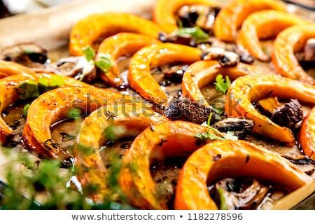 Zoete gebakken pompoen stukken suiker top Stockfoto © ildi