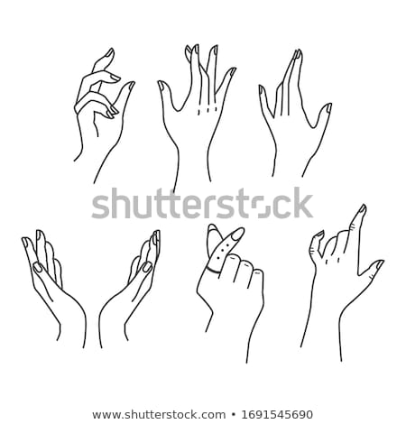 woman silhouette with hand gesture greet Stock photo © Istanbul2009