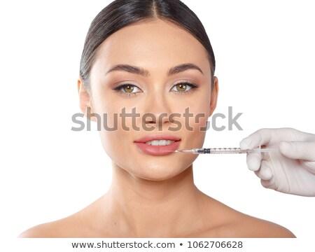Mulher injeção de botox bela mulher clínica escritório mãos Foto stock © wavebreak_media