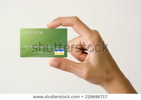 Stockfoto: Groene · creditcard · basketbal · dollarteken · 3D · chroom