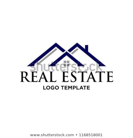 Logo inmobiliario negocios casa casa Foto stock © shawlinmohd