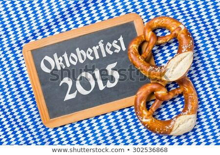 Chalkboard with a bavarian decor - Oktoberfest 2015 Stock photo © Zerbor
