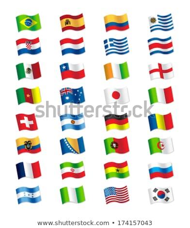 Svájc Irán zászlók puzzle izolált fehér Stock fotó © Istanbul2009