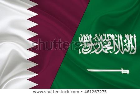 Suudi Arabistan Katar bayraklar bilmece yalıtılmış beyaz Stok fotoğraf © Istanbul2009