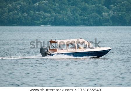 ボート ドナウ川 日没 漁船 木材 夏 ストックフォト © mady70