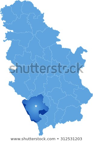 Map of Serbia, Subdivision Pec District  Stock photo © Istanbul2009