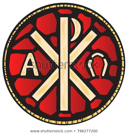 Stockfoto: Alpha · icon · afbeelding · omega · brieven · Grieks