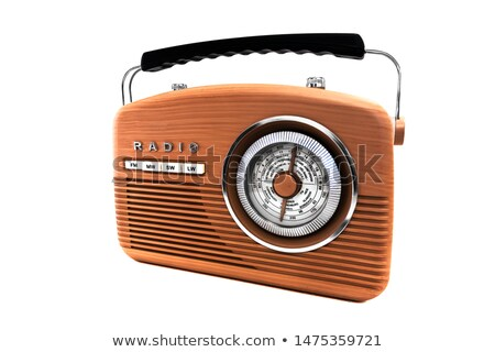 radio · vieux · isolé · communication - photo stock © smuki