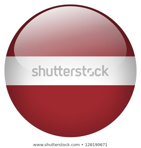 Sticker vlag Letland geïsoleerd witte reizen Stockfoto © MikhailMishchenko