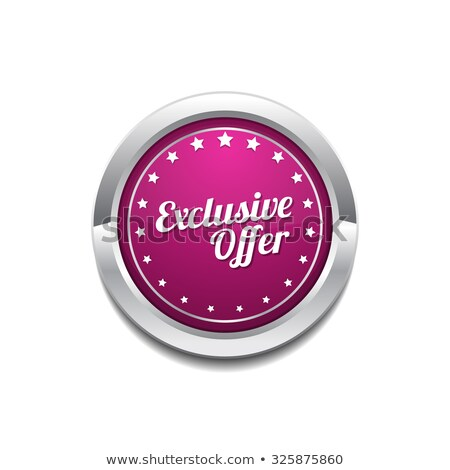 Exclusive Deal Pink Vector Button Icon Stock photo © rizwanali3d