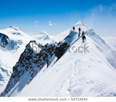 Snowy steep mountain ridge Stock photo © photosebia
