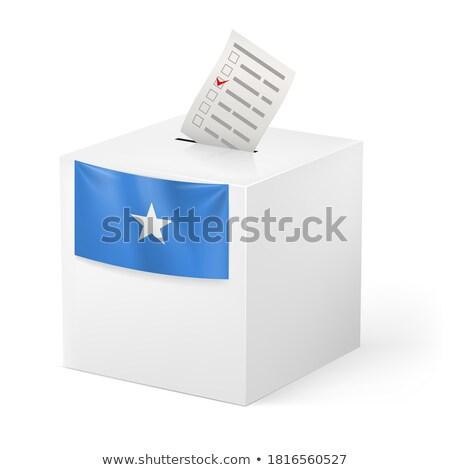 投票 ボックス ソマリア クロス フラグ 星 ストックフォト © Ustofre9