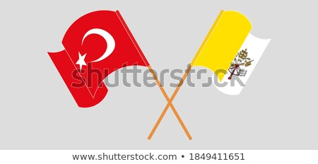 Turkey and Holy See - Vatican City State Flags Stock photo © Istanbul2009