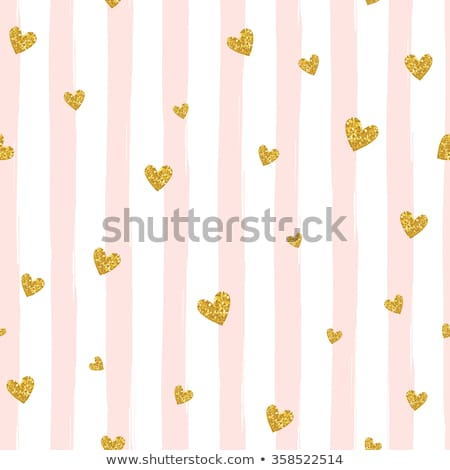 golden hearts seamless pattern stock photo © gladiolus