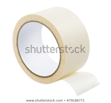 roll of masking tape on white Stock photo © ozaiachin
