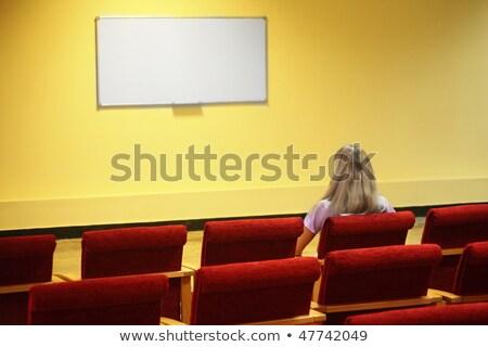 Stok fotoğraf: Kadın · oturma · sandalye · ilk · boş