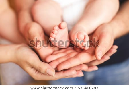 baby with parents finger Stock photo © Paha_L
